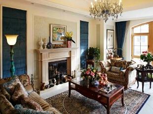 一层客厅,420平,220万,混搭,别墅,