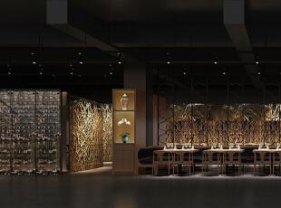 餐厅角度二,500平,50万,简约,公装,