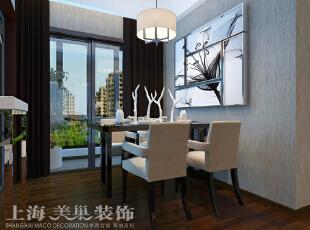 郑州市中力七里湾现代简约风格两室两厅70平方装修案例效果图——餐厅,简约的家具与黑白色的装饰画简单时尚。,70平,7万,现代,两居,