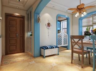 门厅,128平,15万,地中海,三居,