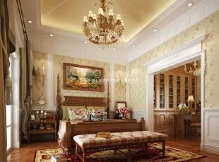 河南长基燕月湾别墅样板房装修效果图 卧室,900平,10万,欧式,别墅,卧室,