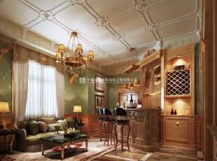 河南长基燕月湾别墅样板房装修效果图 休闲区,900平,10万,欧式,别墅,客厅,