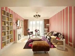 ,142平,17万,现代,四居,客厅,红色,