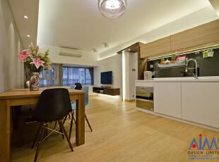 ,50平,现代,两居,客厅,餐厅,厨房,白色,简约,玄关,