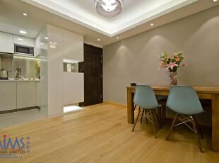 ,50平,现代,两居,原木色,白色,简约,客厅,玄关,餐厅,