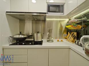 ,50平,现代,两居,厨房,白色,简约,