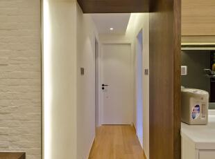 ,50平,现代,两居,简约,玄关,客厅,餐厅,白色,原木色,