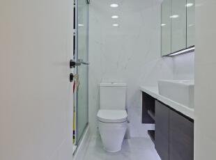 ,50平,现代,两居,卫生间,简约,白色,原木色,