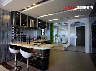 开放性的厨房和吧台设计,不仅节省了空间又充满了情调,130平,11万,现代,三居,石家庄海棠湾装修,厨房,餐厅,