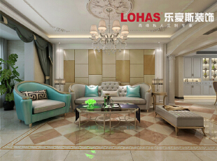 颇具风情的沙发,就这么散发着欧式的韵味。现代时尚邂逅,碰撞出的是更精美高端的设计,和更高品质的生活享受。,128平,15万,欧式,三居,客厅,