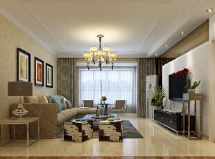 客厅出其不意又有种淡出的热情,再配以灯光相佐,使整体色调简洁而温暖。墙角一盆高大的绿植成为了绿色生命在此空间的展现,让本来后现在简约的气氛中点缀了自然的气息,一道风景就展现在眼前了。,134平,10万,简约,三居,石家庄奥北公元装修,客厅,