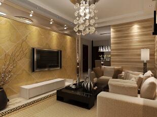 天海誉天下C区B户型98㎡两室两厅现代简约风格装修案例效果图,98平,3万,现代,两居,