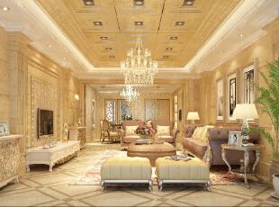 ,178平,22万,欧式,三居,客厅,黄色,