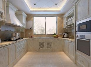 欧式厨房的装修设计结合美式风格的奢华与自由,在色彩上偏暖色调,更体现出家居的温馨与舒适。良好的厨房设计可以让烹饪者的心情更为愉悦,由此做出来的菜肴也就更会可口。,178平,22万,欧式,三居,原木色,厨房,
