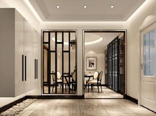 温馨之家——门厅,140平,7万,现代,三居,玄关,