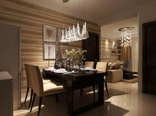 餐厅选择1400*800标准餐桌,根据空间合理安放一组餐边柜,提高空间使用率。再加上两排吊灯,更加充满幸福的气味。,98平,3万,现代,两居,