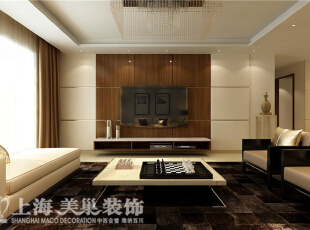 祥和花园190平方四室两厅现代简约风格装修案例-电视背景墙装修效果图,190平,10万,现代,四居,客厅,