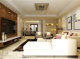 祥和花园1号楼4室2厅样板间装修效果图-客厅整体效果图,190平,10万,现代,四居,卧室,
