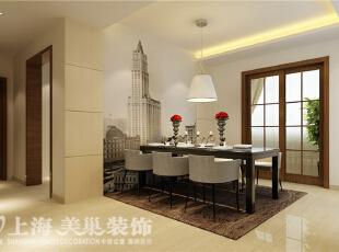 郑州祥和花园190平方四室两厅现代简约风格装修方案-餐厅装修效果图,190平,10万,现代,四居,餐厅,