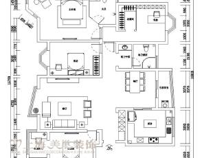 祥和花园1号楼190平方四室两厅户型图,190平,10万,现代,四居,