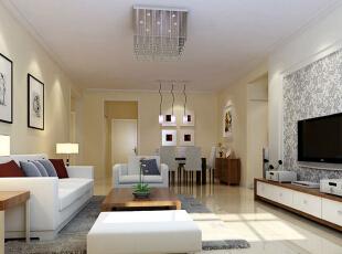白亮光系列家具,独特的光泽使家具倍感时尚,具有舒适与美观并存的享受。,99平,7万,现代,三居,