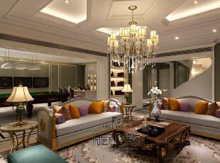 墙面装饰在许多设计师的倡导下正逐渐发展成为一种家装流行趋势。墙画虽小,其独有的艺术气质及装饰才情却能瞬间改变居室表情,为家增色不少。恰当的墙面布置能平衡居室空间,使每一件家具和饰品都融为一体,给人以浑然天成的整体美感。,730平,450万,新古典,别墅,