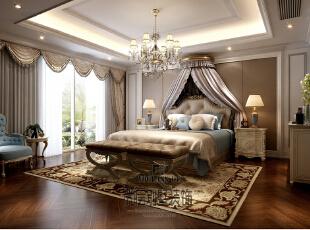 大华澄宫美式新古典主卧室,730平,450万,新古典,别墅,卧室,