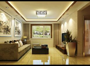 ,100平,8万,中式,两居,客厅,