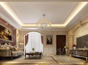 郑州林溪湾别墅260平方简欧风格——客厅装修效果图展示,260平,20万,欧式,别墅,