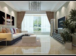 ,130平,15万,现代,三居,客厅,