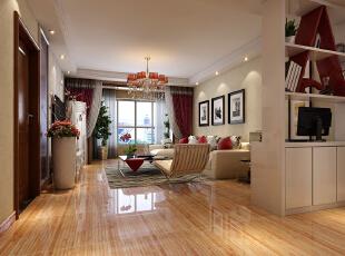 ,131平,15万,现代,三居,客厅,