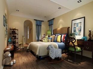 在本案例中,设计师将蓝色与白色搭配不同程度的对比与组合发挥到极致,巧妙的设计营造出一个清新、时尚而又浪漫的居室空间。,330平,80万,现代,一居,