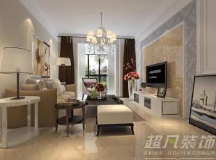 客厅效果图,95平,6万,现代,三居,客厅,