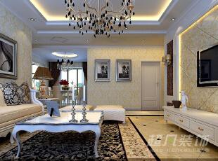 西雅图142平三室两厅装修设计效果图——河南超凡装饰——欧式风格效果图,142平,12万,欧式,三居,客厅,餐厅,