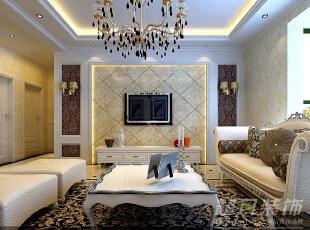 西雅图142平三室两厅装修设计效果图——河南超凡装饰——欧式风格效果图,142平,12万,欧式,三居,客厅,
