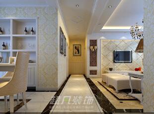 西雅图142平三室两厅装修设计效果图——河南超凡装饰——欧式风格效果图,142平,12万,欧式,三居,