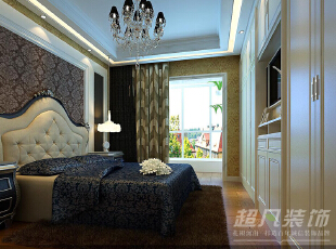 西雅图142平三室两厅装修设计效果图——河南超凡装饰——欧式风格效果图,142平,12万,欧式,三居,卧室,