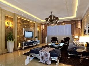 ,141平,16万,新古典,三居,客厅,简约,黄色,