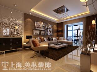 正商明钻6号楼3室2厅样板间装修效果图-沙发背景墙装修效果图,130平,8万,现代,三居,客厅,