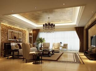 在色彩上,采用的是奶白色搭配浅咖啡色为主色调,搭配亮光的石材与深木色的地板,营造出一种在慵懒的阳光午后,端上一杯卡布奇诺,与亲密的爱人相互依偎在优雅的居住环境中感受那一份属于自己的浪漫情节。,180平,250000万,欧式,三居,