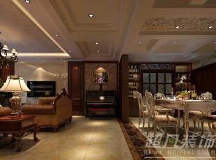 ,260平,30万,新古典,复式,客厅,餐厅,玄关,