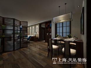 郑州农业厅家属院三室两厅120平装修设计案例效果图——新中式风格餐厅全景,120平,10.5万,中式,三居,餐厅,