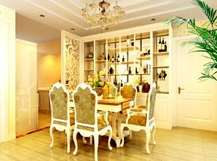 设计说明:整体以亮白色家具为主,打造一种简约舒适的生活环境。独特的红酒置物架,仿佛走入鸟语花香的美式农家。,80平,50000万,田园,两居,