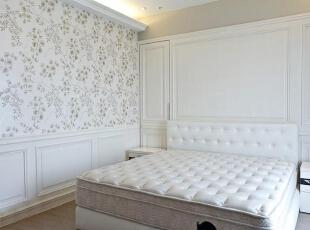 ,125平,14万,美式,三居,卧室,白色,