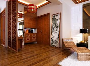 中式装修的风格不仅能够使您的屋子体现中式的传统美,而且还能够修身养心。色彩简练.明快.流畅,将中国传统颜色引入家中,其中人们比较喜欢中国红.黄色.青色等。红色喜庆,黄色温暖,青色幽静,颜色赋予动感,引以其他颜色作点缀利用黑白过度,恰到好处的巧妙处理,整个空间在颜色气氛烘托下感觉舒适.温和,加以灯光合理运用让空间完美,135平,5万,中式,三居,玄关,