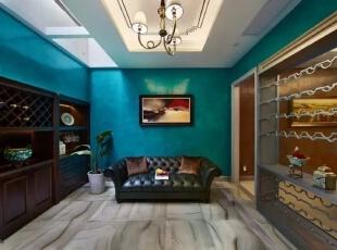 地下室   将酒区、棋牌区和影音室整合为一体,体现了人性化的综合性住宅。将风格简约化、色彩单一化,厚重的基调中增添几许跳跃的元素,古典与现代气质完美结合。工作之余,在慵懒而舒适的沙发上抽支雪茄、品味红酒,感受充满乐趣的闲适生活。,200平,30万,现代,一居,