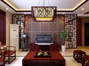 ,141平,16万,中式,三居,客厅,红色,