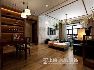 正商新蓝钻3号楼120平三室两厅新中式风格装修效果图--入户门厅,120平,10万,中式,三居,
