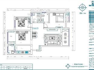 正商新蓝钻120平3室2厅新中式风格样板间装修户型图,120平,10万,中式,三居,