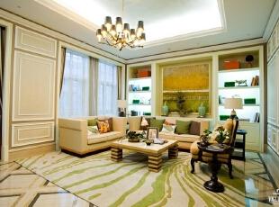,500平,40万,欧式,别墅,客厅,